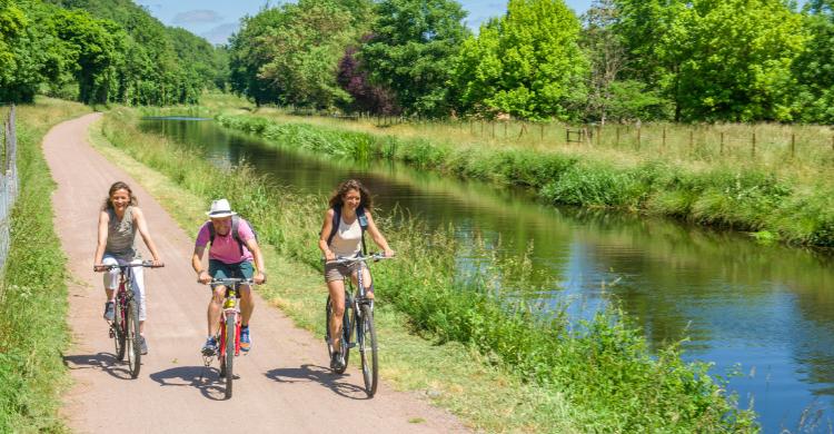 canal de berry baboteurs vélo vintage